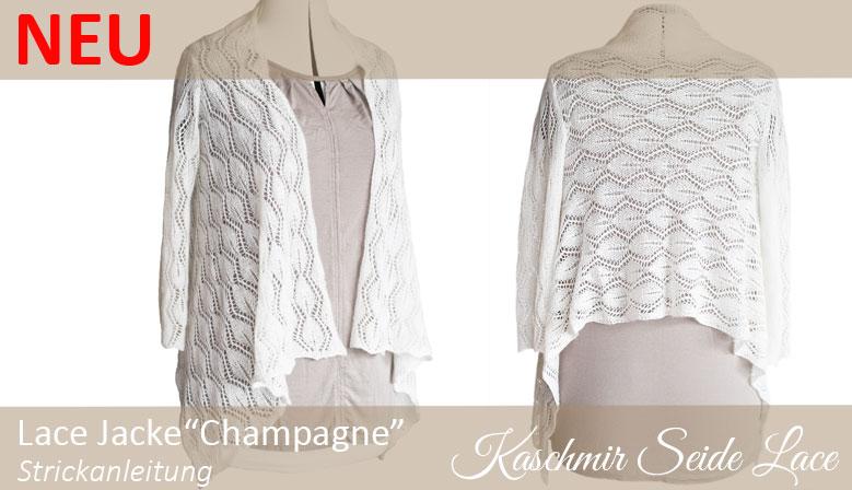 Strickanleitung Lace Jacke Champagne für Braut und zum Feiern