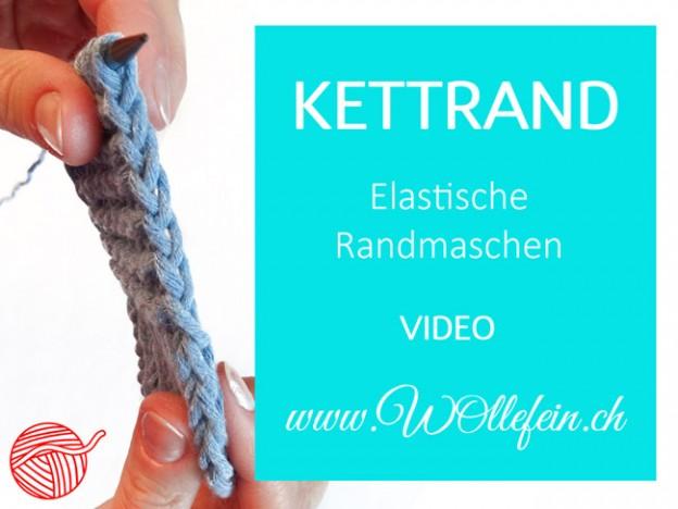 Kettrand - elastische Randmaschen stricken lernen mit Video