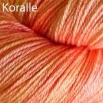 Handgefärbte Garne mit Seide und Merinowolle
