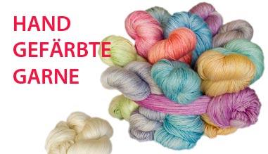 Stricken mit handgefärbter Wolle mit Seide