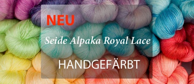 Seide Alpaka Royal Lace Garn handgefärbt