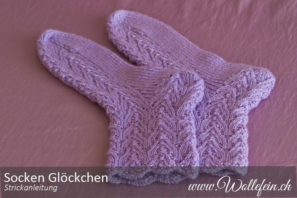 Strickanleitung Socken und Handschuhe Glöckchen | Wollefein