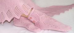 Socken und Schal Rosenquarz Strickanleitung