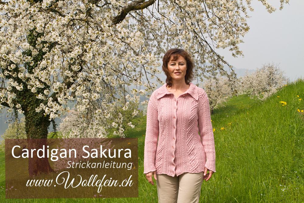 Strickanleitung Cardigan Sakura Design Ekaterina Arndt www.wollefein.ch