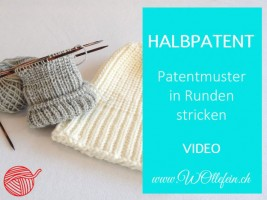 Halbpatent in Runden stricken
